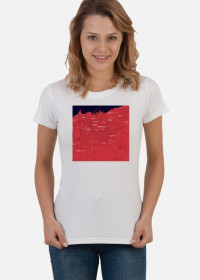 Koszulka z mapą Casablanki.