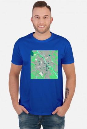 Koszulka z mapą Warszawy.