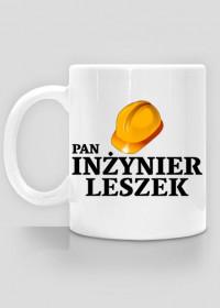 Kubek Pan Inżynier z imieniem Leszek