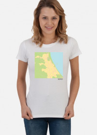 Koszulka z mapą Sopotu.