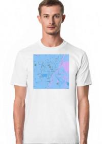 Koszulka z mapą Szczecina.