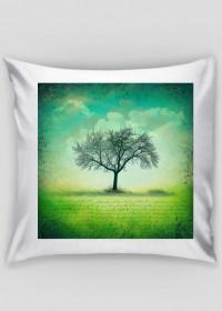 Poszewka drzewo - Vintage, retro