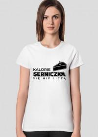 Koszulka damska jasna - Serniczek się nie liczy