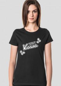 Koszulka damska ciemna - Wszystko czego potrzebuje to kawa