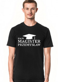 Koszulka personalizowana Pan Magister z imieniem Przemysław