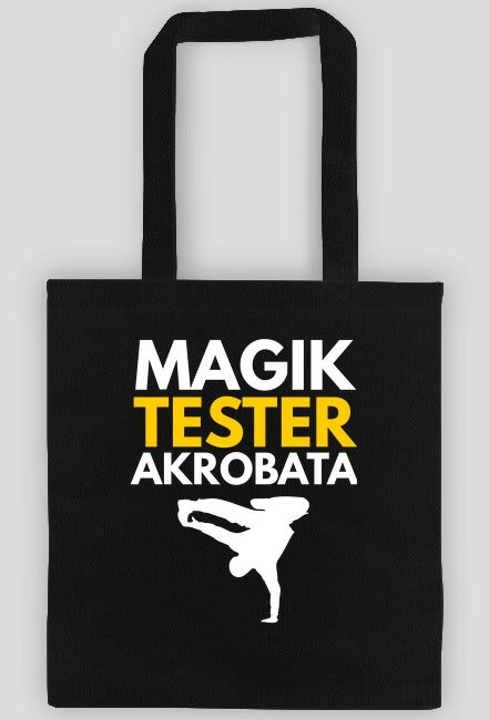 Magik, tester, akrobata - czarna torba