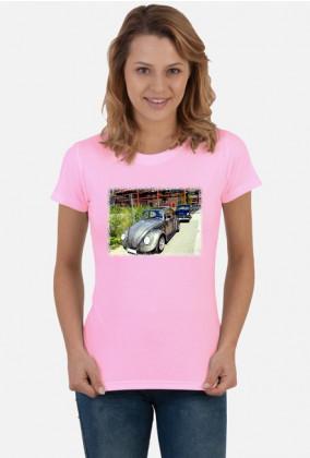 VW Beetle V2 - cartoon (woman t-shirt)