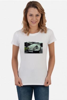 VW Beetle V3 - cartoon (woman t-shirt)