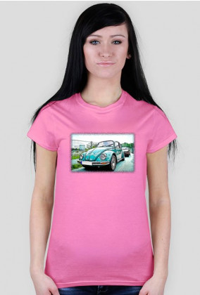 VW Beetle V5 - cartoon (woman t-shirt)