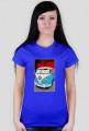VW Bulli - cartoon (woman t-shirt)