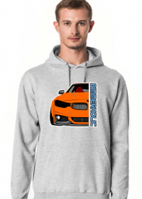 Bimmerholic M4 widebody - Orange (men hoodie)