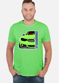 Bimmerholic M4 widebody - Green (men t-shirt)