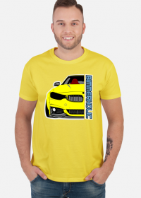 Bimmerholic M4 widebody - Yellow (men t-shirt)