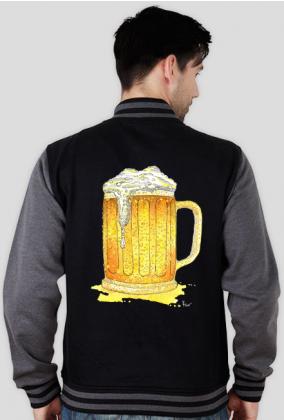 BLUZA MĘSKA  VARSITY JACKET piwo