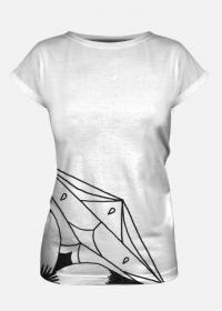 Koszulka damska - rozeta