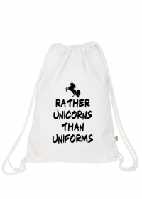Plecak worek, biały, Unicorns 3