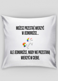 Poduszka, biała, Unicorns 5