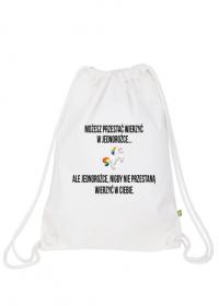 Plecak worek, biały, Unicorns 5