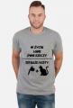 """Koszulka"""" W życiu lubię, dwie rzeczy- tatuaże i koty"""""""