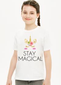 Koszulka dziecięca, biała, Unicorns 6