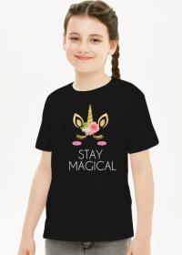 Koszulka dziecięca, czarna, Unicorns 6