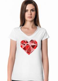 Serce geometryczne duże (dekolt w serek)