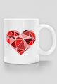 Kubek serce geometryczne duże