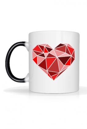 Magiczny kubek serce geometryczne