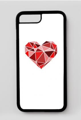 iPhone 7 Plus, iPhone 8 Plus case serce geometryczne