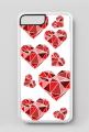 iPhone 7 Plus, iPhone 8 Plus case w serca geometryczne