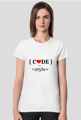 Koszulka damska code with style