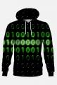 Bluza z kapturem binary code