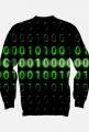 Bluza bez kaptura binary code