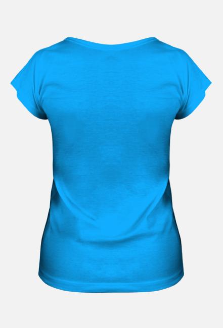 Koszulka damska let's code niebieska