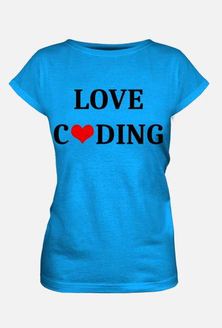 Koszulka damska love coding