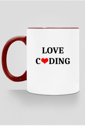 kubek kolorowy love coding