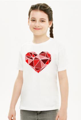 Serce geometryczne duże dziecięca