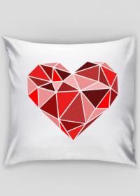 Poszewka na poduszkę duże serce