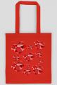 Eco torba na zakupy w serduszkowy nieład