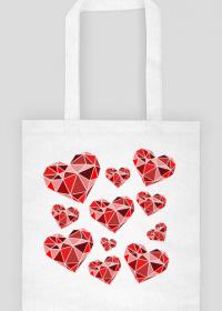 Eco torba na zakupy w serduszka (jednostronna)