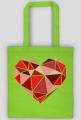 Eco torba na zakupy duże serce (jednostronna)