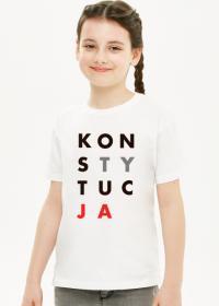 Konstytucja koszulka dziecięca dla dziewczynek (różne kolory)