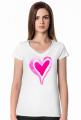 Koszulka serce akwarelowe (dekolt w serek)
