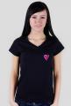 Koszulka serce akwarelowe malutkie (dekolt w serek)