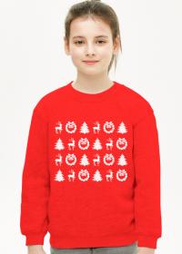 Świąteczna bluza z nadrukiem dla dziewczynki