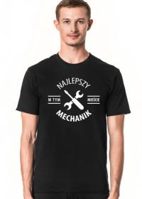 Koszulka męska ciemna - Najlepszy mechanik
