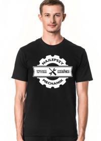 Koszulka męska ciemna - Najlepszy mechanik w tym mieście