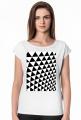 GEOMETRY trójkąty - T-shirt damski