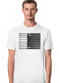 GEOMETRY czarne-białe - T-shirt męski