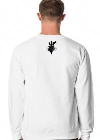 GEOMETRY czarne-białe - bluza męska